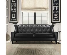 Sofa im Retrostil Schwarz