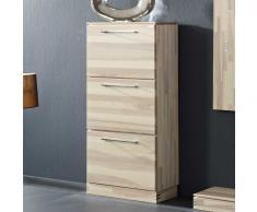 Garderoben Schuhschrank aus Kernesche Massivholz mit drei Klappen