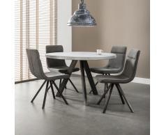 Esszimmergruppe mit rundem Tisch Loft Design (5-teilig)