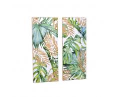 Bilder Set mit Dschungel Motiven Tanne Massivholz (2er Set)