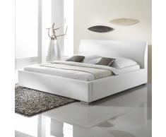 Polsterbett in Weiß