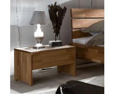 Nachtkonsole aus Wildeiche Massivholz Schublade