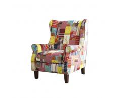 Patchwork Sessel in Bunt Ohren