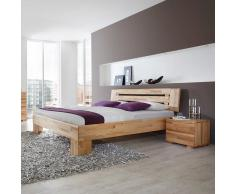 Ehebett mit Nachtkommoden Kernbuche Massivholz (3-teilig)