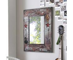 Design Spiegel im Rock Style Metallrahmen