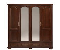 Schlafzimmer Kleiderschrank im klassisch antiken Design Walnussfarben