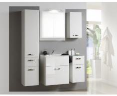 Badezimmer Set in Hochglanz Weiß (4-teilig)