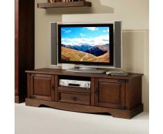 TV-Lowboard aus dunklem Kieferholz