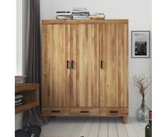 Garderobenschrank aus Wildeiche Massivholz 3 Türen