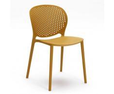 Stapelstuhl in Gelb Kunststoff (4er Set)