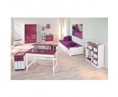 Kinderzimmer Set in Magenta-Weiß Pink (8-teilig)