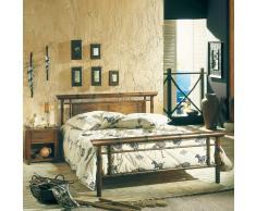 Bett im Asia Design Metall