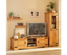 TV Wand in Kieferfarben (2-teilig)