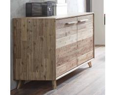 Wohnzimmer Sideboard aus Akazie Massivholz 120 cm