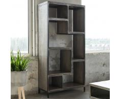Design Regal im Industry Look Massivholz und Metall