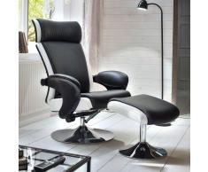 Design Relaxsessel in Schwarz Weiß modern (2-teilig)