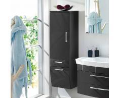 Badezimmer Hochschrank in Hochglanz Anthrazit 40 cm breit