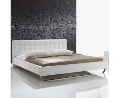 Futonbett in Weiß gepolstert