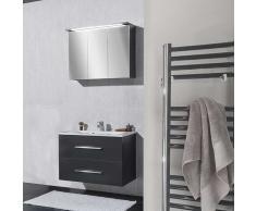 Badezimmermöbel Set in Anthrazit mit Waschtisch (2-teilig)