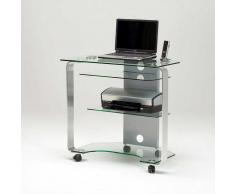 Schreibtisch mit Rollen Glas