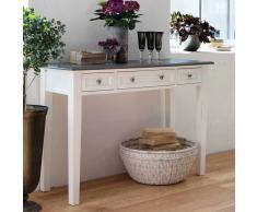 Konsolentisch im Landhaus Design Weiß Grau