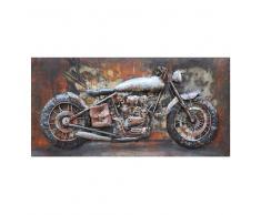 Metall Wandbild im Motorrad Design Bunt