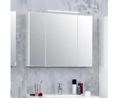 Spiegelschrank mit 3D Effekt Weiß