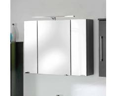 3D Spiegelschrank in Anthrazit mit Licht