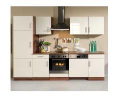 Küchenzeile mit cremefarbenen Fronten online kaufen (6-teilig)