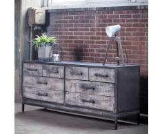 Loft Sideboard mit Schubladen Grau antik