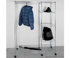 Garderobenständer in Chromfarben Verchromt