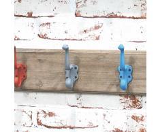 Hakenleiste im Vintage Look Bunt Holz