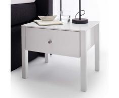 Bett Tisch in Weiß Schublade