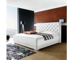 Komfortbett aus Kunstleder Weiß