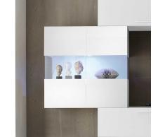 Wandvitrine in Weiß Hochglanz Glas