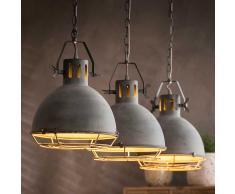 Hängeleuchte in Beton Grau Fabrik Design