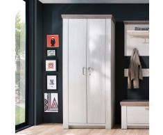 Garderobenschrank In Pinie Weiß Und Eiche Landhausstil