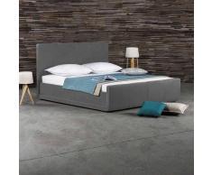 Kunstlederbett in Grau Überlänge