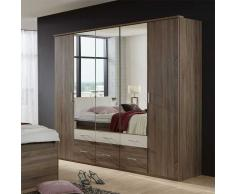 Spiegel Kleiderschrank in Eichefarben Spiegeltüren