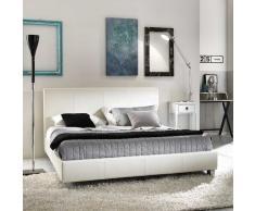 Design Polsterbett in Creme 160x200 cm