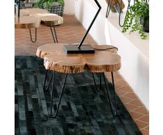 Design Beistelltisch mit Baumscheibe Akazie Massivholz