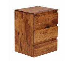Massivholz Rollcontainer aus Sheesham lackiert 3 Schubladen