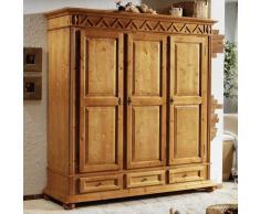 Schlafzimmer Kleiderschrank aus Fichte Massivholz antik lackiert