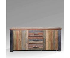 Wohnzimmer Sideboard aus Teak Recyclingholz Loft Design