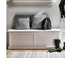Stauraumbank in Weiß 140 cm breit