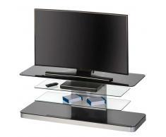 TV Tisch in Schwarz Weiß Glas