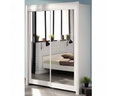 Schwebetürenschrank in Weiß Spiegeltüren