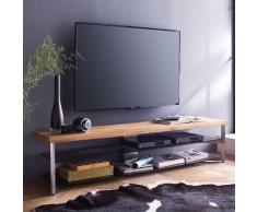 TV Tisch mit Eiche Massivholz Grau