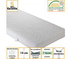 Matratze mit Komfortschaum abnehmbarer Bezug