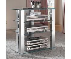 TV Rack aus Glas und Metall